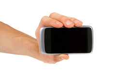 Hand showing mobile phone Royalty Free Stock Photography