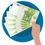 Hand Showing Money Stock Photo