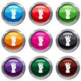 Hand showing number four set 9 collection Royalty Free Stock Image