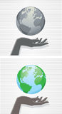 Hand and globe Royalty Free Stock Photo