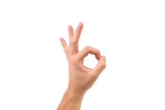 Hand showing OK. Royalty Free Stock Photo