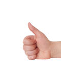 Hand showing ok sign. Isolated on white background isolated Stock Photography