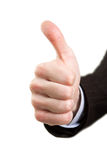 Hand showing ok sign Royalty Free Stock Images