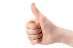 Hand showing okay sign Royalty Free Stock Photos