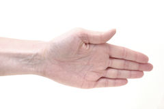 Hand showing Paper Game sign Stock Photography