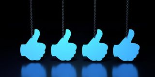 Hand showing symbol Like. Stock Image