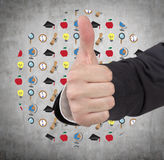 Hand showing  thumb up Stock Images