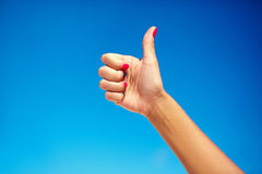 Hand showing thumb up Stock Image