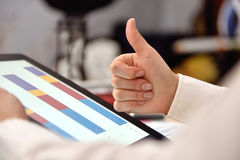Hand showing thumb up Royalty Free Stock Images