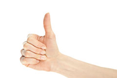 Hand showing thumbs up Royalty Free Stock Photo