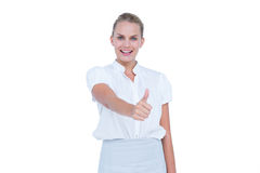 Hand showing thumbs up Stock Images
