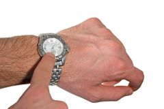 Hand showing time Stock Images