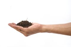 Hand shown soil hold Royalty Free Stock Photos