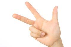 Hand shown three finger Stock Photo