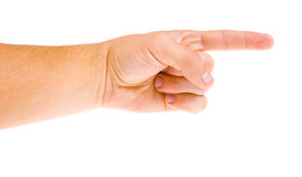 Hand shows the gesture Stock Image