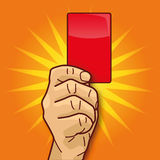 Hand shows a red card Royalty Free Stock Photography