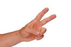 Hand - Siegzeichen Stockbilder