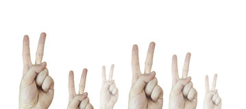 Hand sign. Stock Image