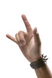 Hand sign. Showing i love you Royalty Free Stock Photos