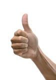 Hand sign. Thumb up well done job Stock Photography