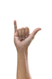 Hand sign. Showing i love you Stock Photography