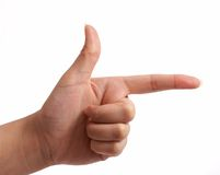 Hand sign Royalty Free Stock Photography