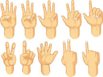 Hand Sign Collection - Counting Gestures Stock Image