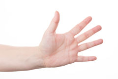 Hand sign for five Royalty Free Stock Photo