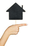 Hand with a sign  the house Stock Photo