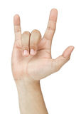 Hand sign I Love you Royalty Free Stock Photography