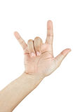 Hand sign I Love you Royalty Free Stock Photo