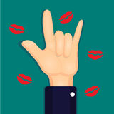 Hand sign i love you. Royalty Free Stock Image