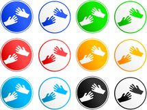Hand sign icons Stock Photo