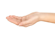 Hand sign. Isolated on white background Royalty Free Stock Photo