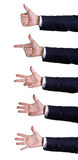 Hand sign numbers Royalty Free Stock Photos