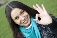 Hand sign OK Royalty Free Stock Photos