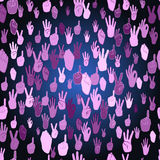 Hand Sign Pattern Stock Images