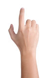 Hand sign posture click isolated. Hand sign posture click in isolated stock photo