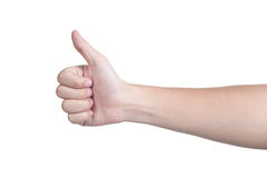 Hand sign posture good isolated Royalty Free Stock Photos