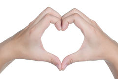Hand sign posture love icon isolated Stock Photos