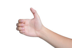 Hand sign posture pick hold isolated Royalty Free Stock Photo