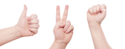 Hand sign set Stock Images