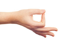 Hand sign symbol Royalty Free Stock Image