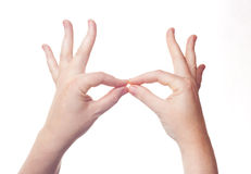 Hand sign symbol Royalty Free Stock Images