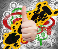 Hand sign symbol Stock Images
