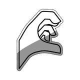 Hand sign symbol. Icon  illustration graphic design Stock Image