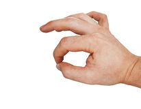 Hand sign symbolizing approval Royalty Free Stock Photography