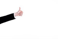 Hand sign thumps Royalty Free Stock Image