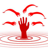 Hand sign used to help Stock Images