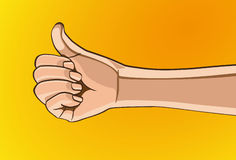 Hand Sign. Vector illustration - Beautiful finger outline version. Created with adobe illustrator. finger, background, are Created separately Stock Photo